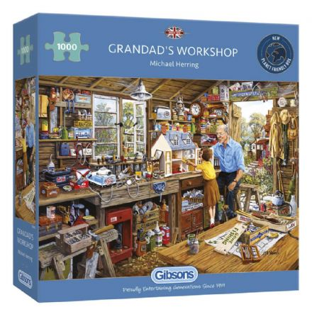 Grandad's Workshop by Michael Herring 1000 Piece Gibsons Jigsaw